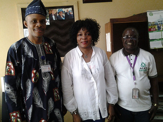Dr. Dickson Ovuerhiroe Madoghwe (Vice President of Nigeria Baptist Convention and Vice President of Christian Association of Nigeria [CAN]), Omoniyi Ogodo-Bach (President of IKH e. V.), Rev. Enoch Oladoja (Baptist Aids Awareness and Prevention Programme [BAAPP])