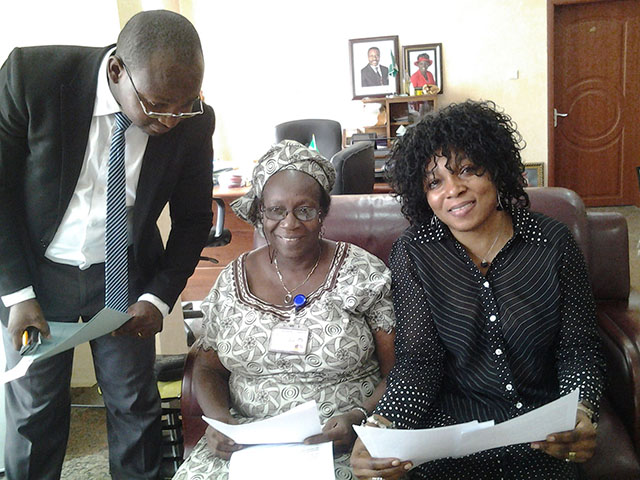 Solicitor for the Baptist Convention, Dr. Titi Eniola (Director of Social Workers), Omoniyi Ogodo-Bach (President of IKH e. V.)